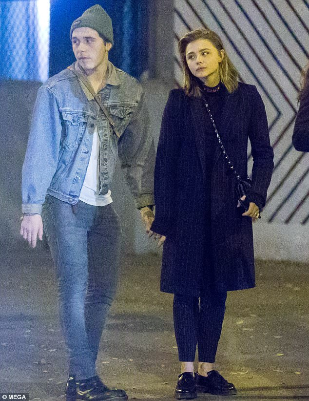 Brooklyn Beckham comforts his girlfriend Chloe Moretz with a kiss after her movie is cancelled amid Louis C.K scandal (Photos)