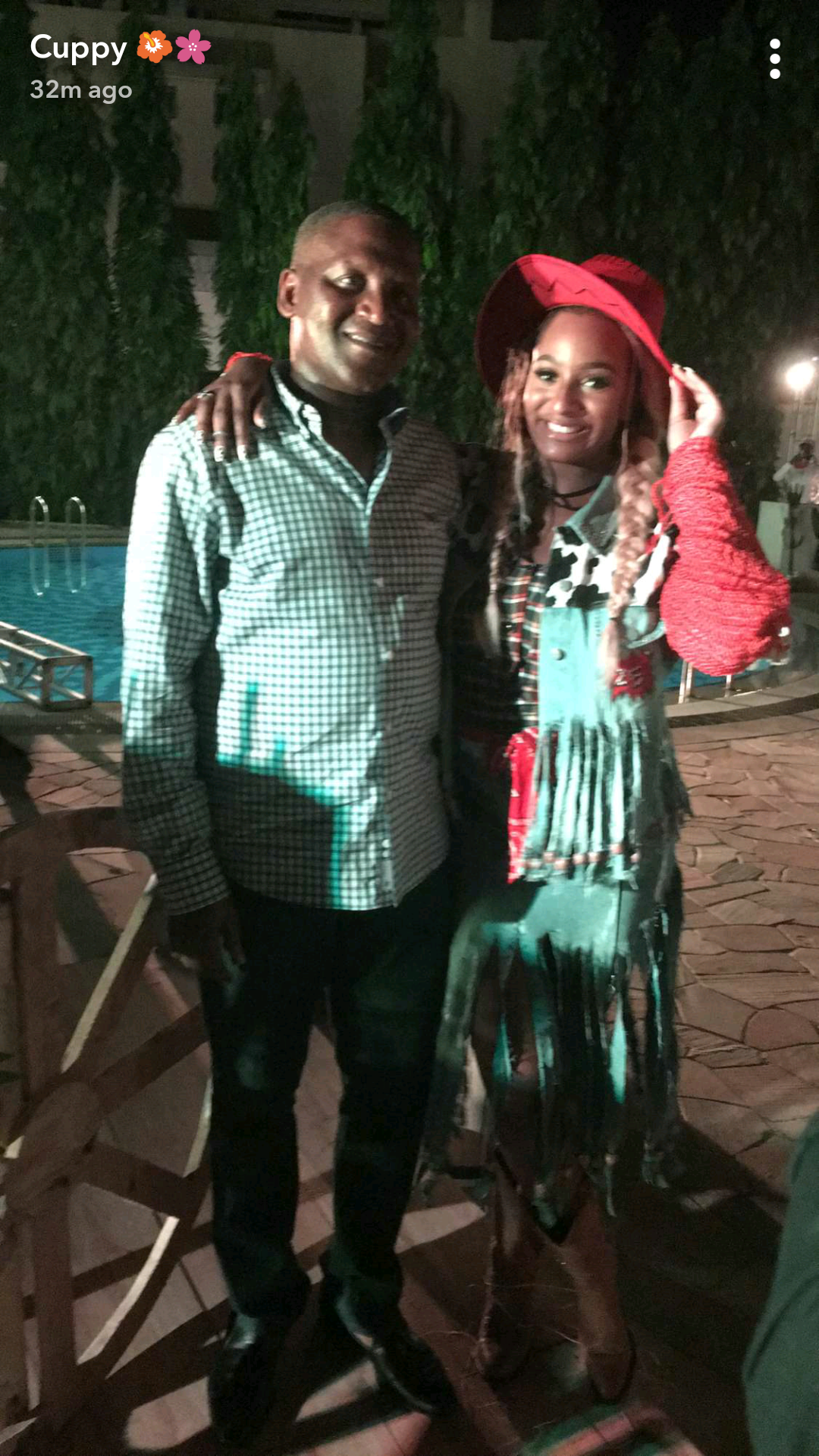 Billionaire businessman, Aliko Dangote surprises DJ Cuppy at her 25th birthday party today (photos)