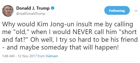 President Trump tweets,