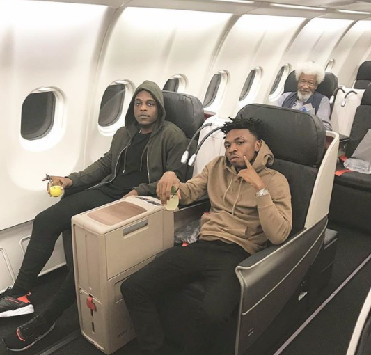Photo: Mayorkun, LAX and Professor Wole Soyinka head to Cyprus