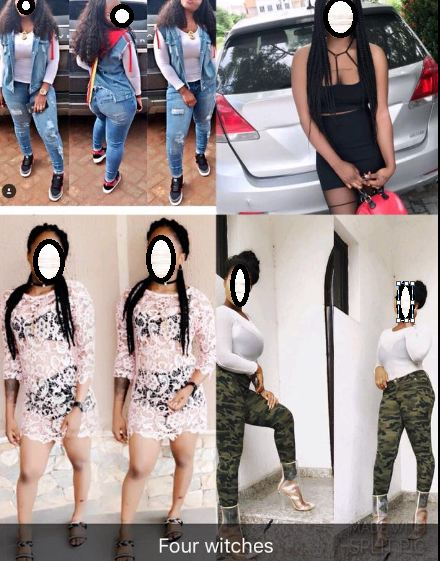 Shocking! Nigerian lady exposes her four friends who allegedly use juju to trap boys and their wombs for rituals  (photos)