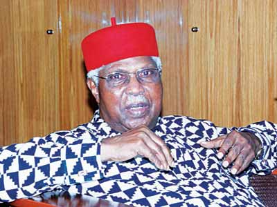 Former Vice President, Alex Ekwueme, flown Abroad for treatment