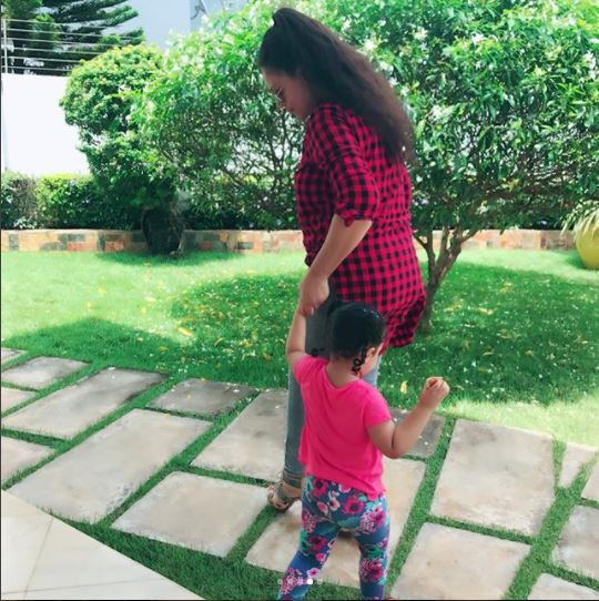 Proud mom Nadia Buari shares adorable new photos of her twin daughters (Photos)