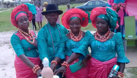 Elderly Delta man marries 3 wives on the same day, refuses to marry an extra 3 for being stubborn (photos)