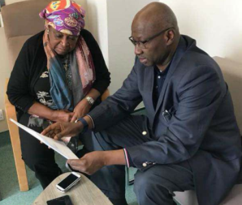 Photo: SGF visits ailing ex-Vice President Alex Ekwueme, in the UK