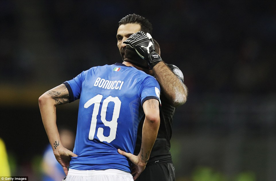 Heartbreak for Italy as Buffon and others fail to reach 2018 World Cup for first time since 1958 (Photos)