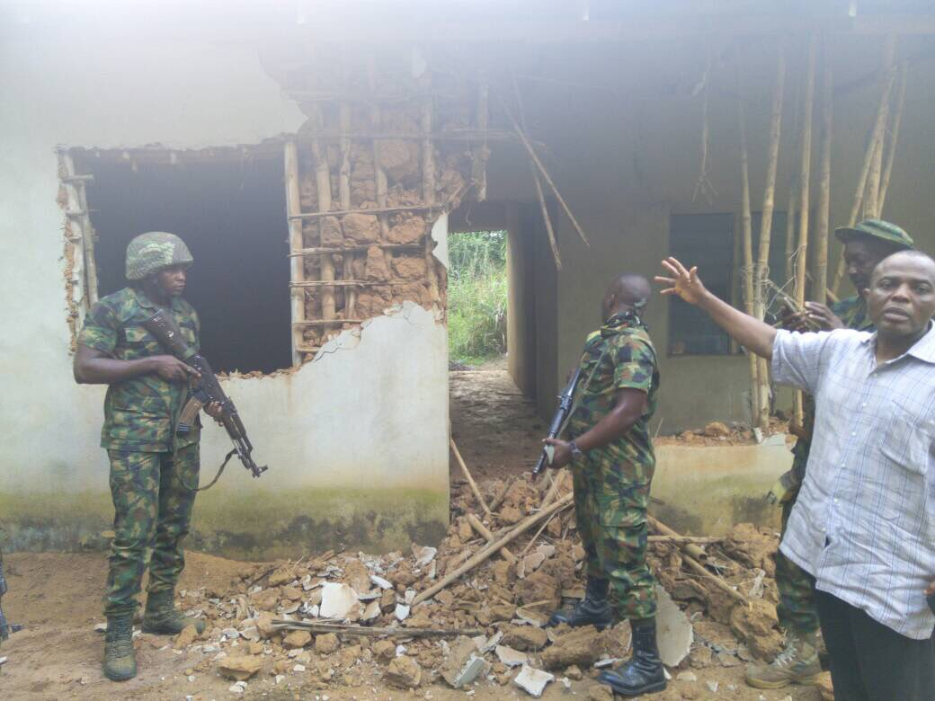 Photos: Nigerian Army apprehend IPOB members canvassing against Saturday