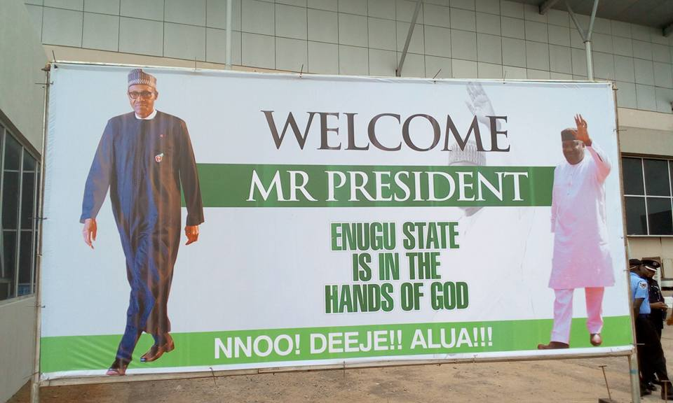Photos: Governors, Minister, others await President Buhari?s arrival to the South East