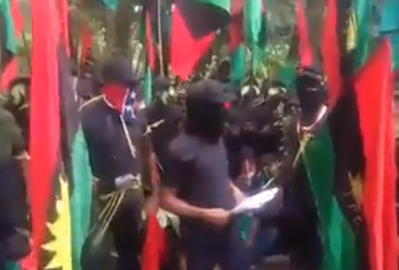 Video of IPOB members threatening to attack President Buhari if he comes to the South East