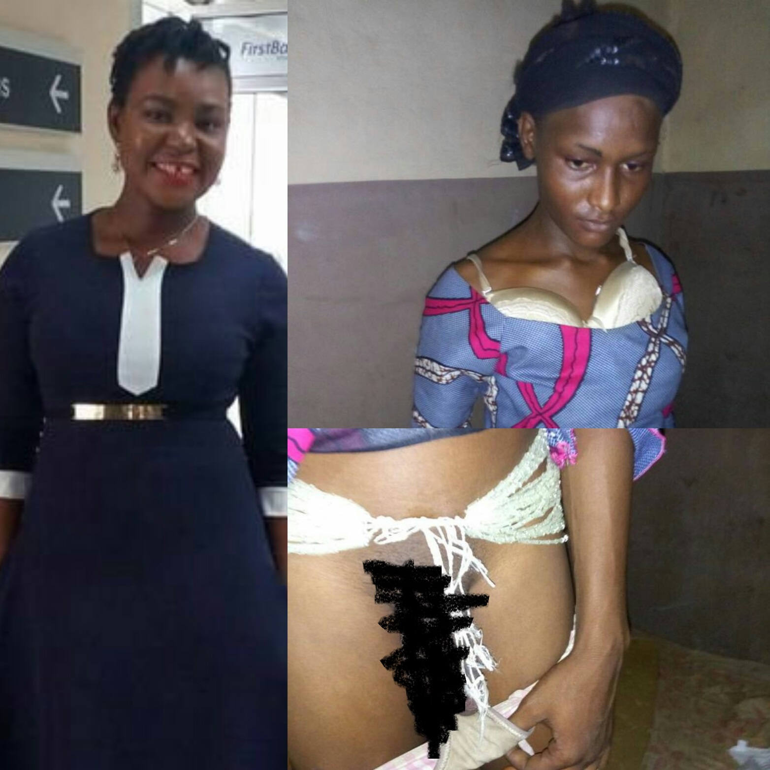 Nigerian woman, who clams to be in the Armed Forces, admires an alleged rapist