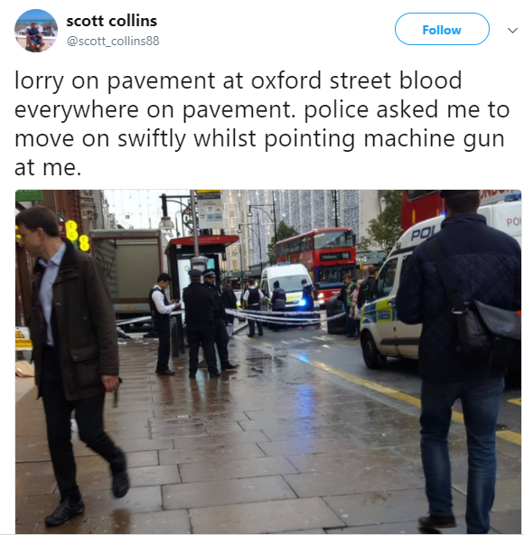 """""""Blood everywhere"""" as window cleaner plunges onto pavement on busy street"""