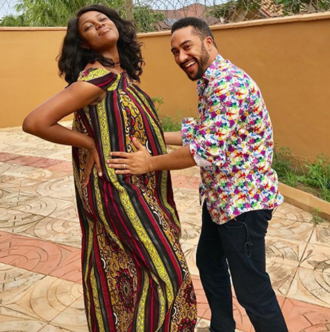 Photos of Majid Michel cradling Yvonne Nelson