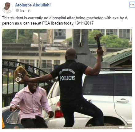 Pathetic video shows clash between police officers and students of FCA Ibadan