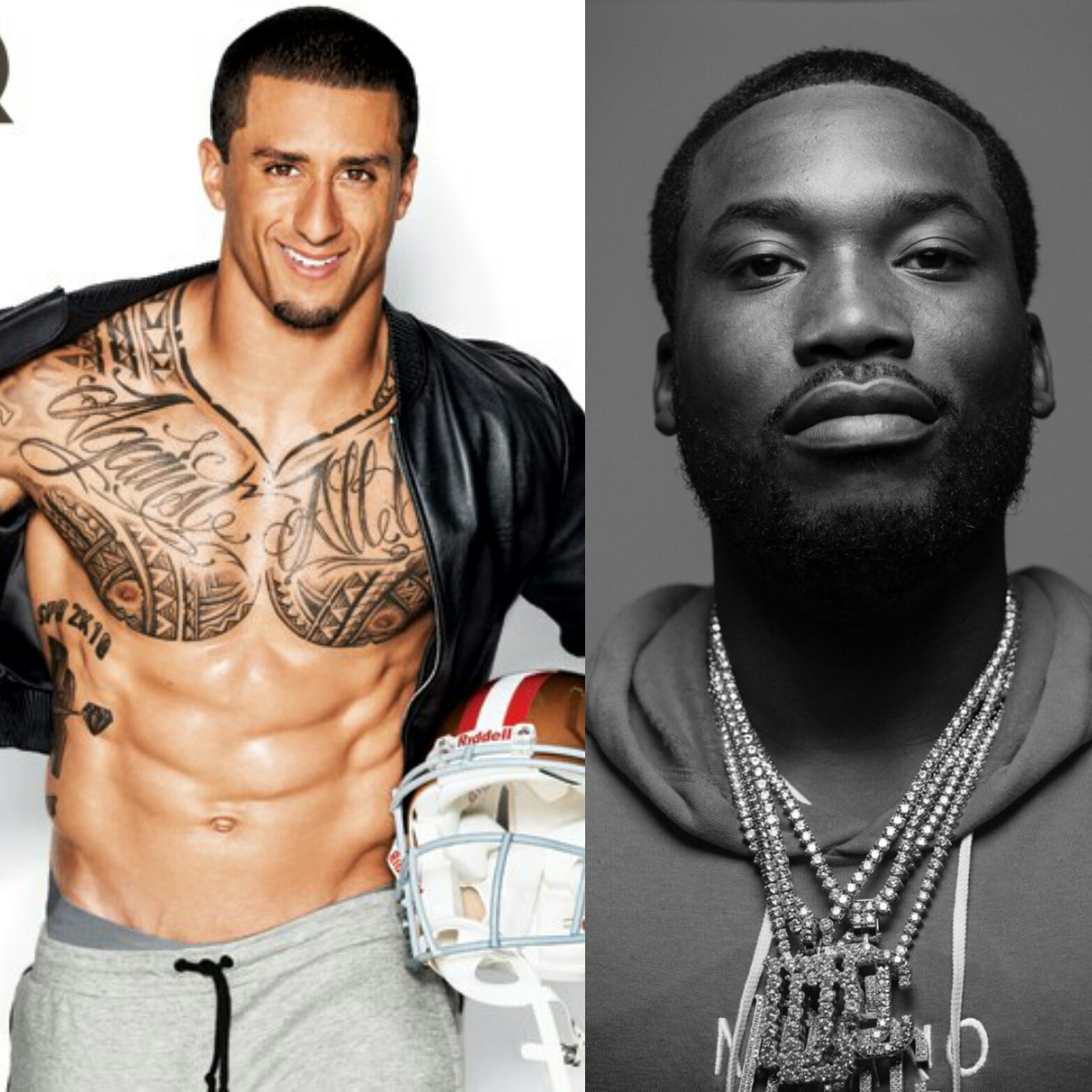 American football quarterback, Colin Kaepernick speaks on Meek Mill