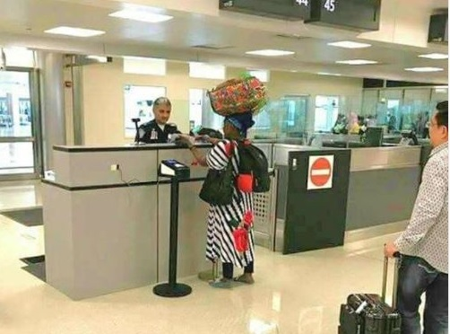 Lol...African mom spotted carrying