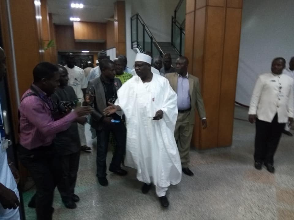 Photos: Senator Ali Ndume, returns to the Senate