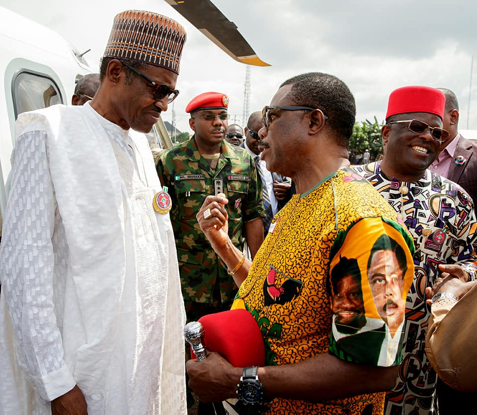 Lol! Caption this photo of President Buhari and Willie Obiano