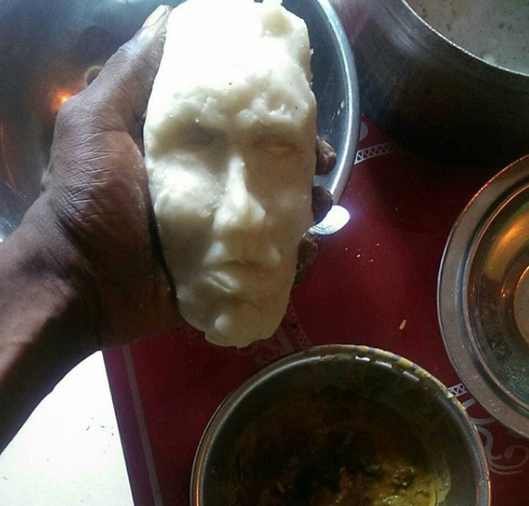 Photos: Man gets inspired to mould a human face from