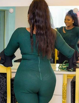 Omotola Jalade-Ekeinde shows off her bodacious behind in clinging jumpsuit