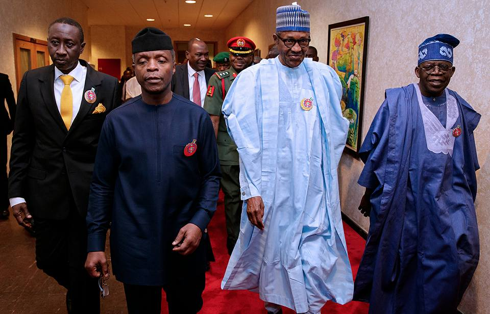 Photos: President Buhari and Asiwaju Tinubu attend book launch event in Abuja today!