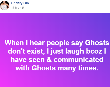 Meet the Nigerian lady that meets and communicates with Ghosts on a daily basis