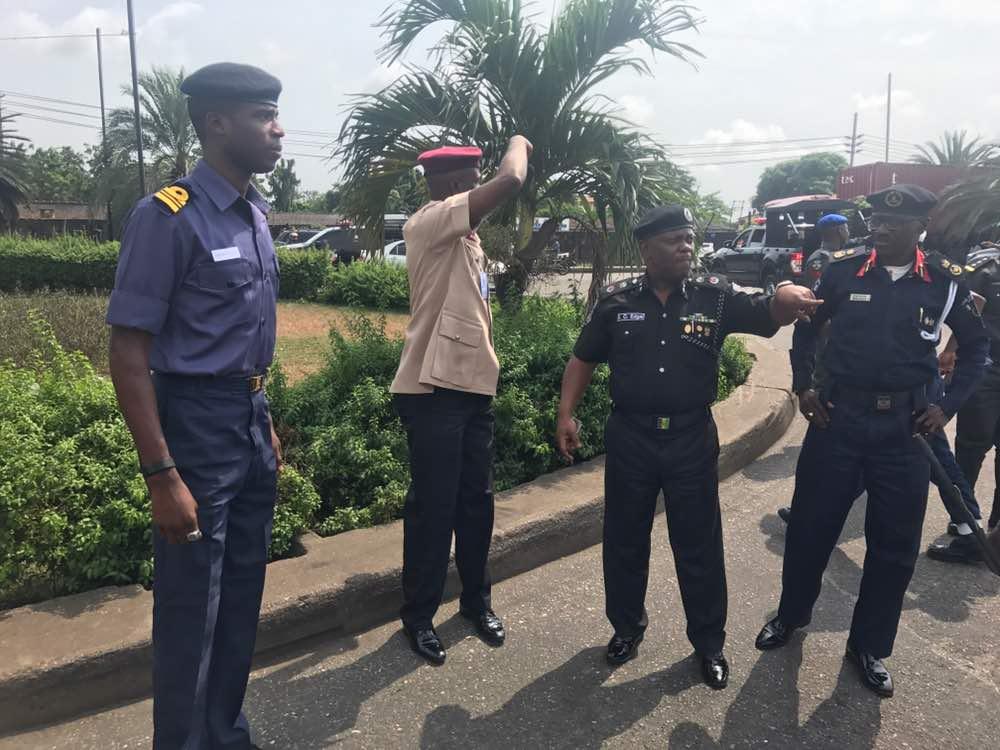Photos: Lagos Police Commissioner leads task force to visit Apapa-Kirikiri traffic gridlock