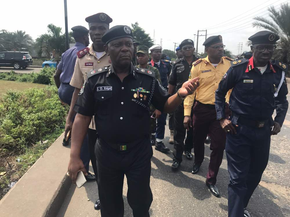 Photos: Lagos Police Commissioner leads task force to visit Apapa-Kirikiri traffic gridlock