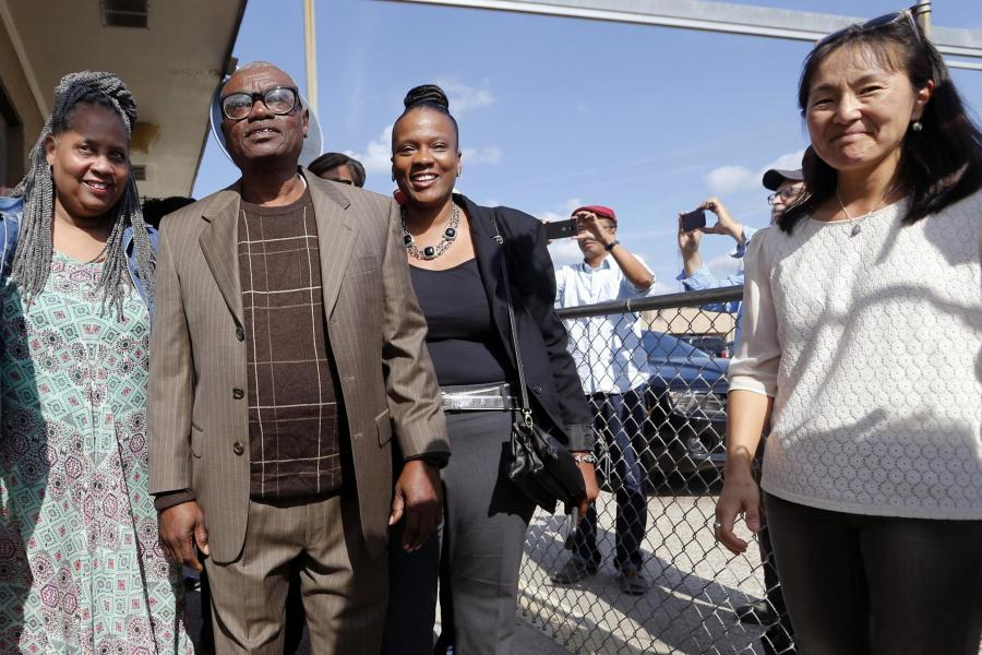 """""""I forgave and forgive"""" Man wrongfully convicted of rape says as he leaves Prison after spending nearly 50 Years (Photos)"""