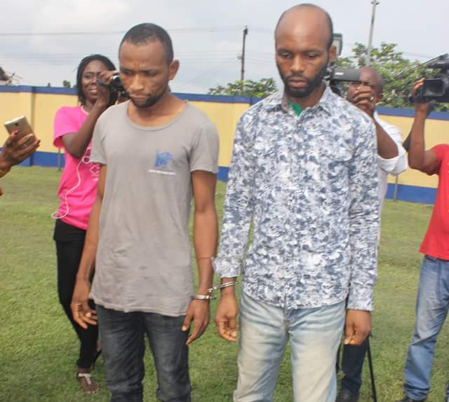 Photos: Rivers Police arrest two murder suspects who killed Shell Petroleum staff