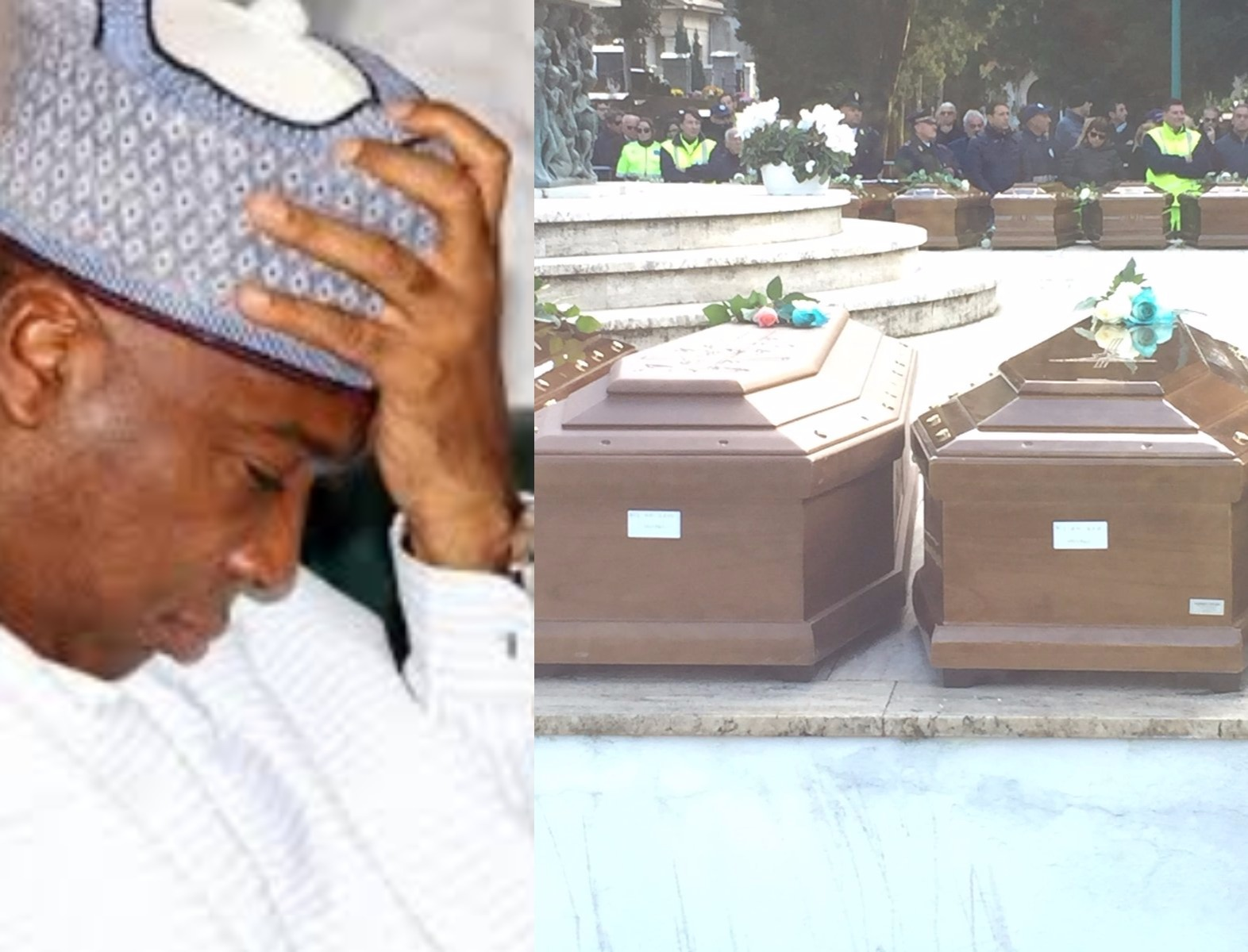 Saraki reacts to Italian govt organizing the burial of the 26 young Nigerian ladies that drowned in the sea