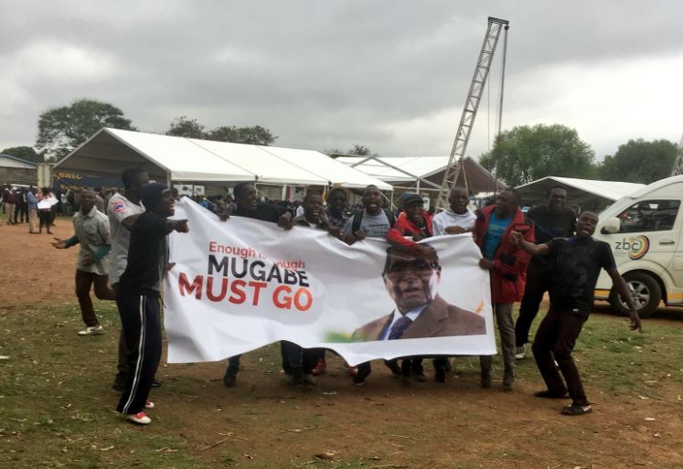'Mugabe must go' See the mammoth crowd that came out to protest against Zimbabwe's Robert Mugabe today (photos/video)