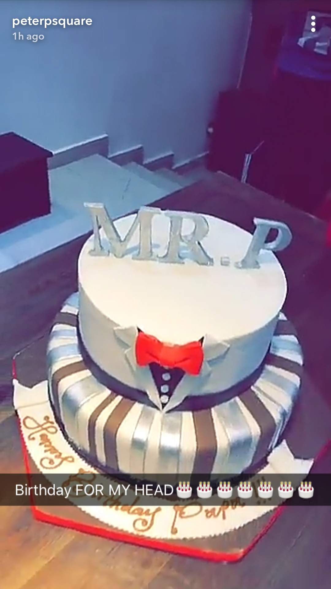 Peter Okoye celebrates birthday with family, Omotola & friends at his home (photos)