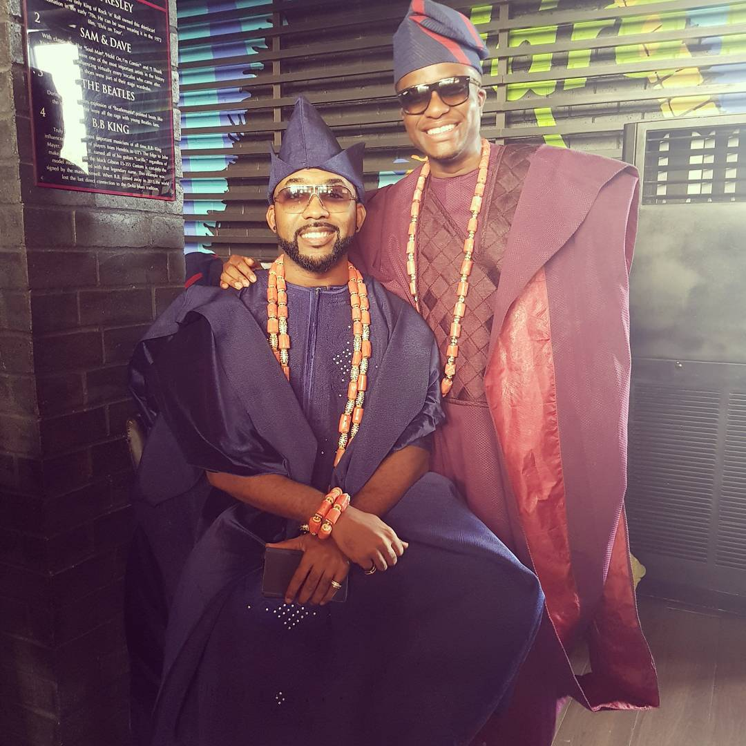 More photos of BankyW & his squad, celebrity guests and the cake at his traditional wedding today