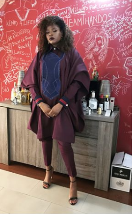 Filmmaker, Kemi Adetiba rocks agbada for Banky and Adesua