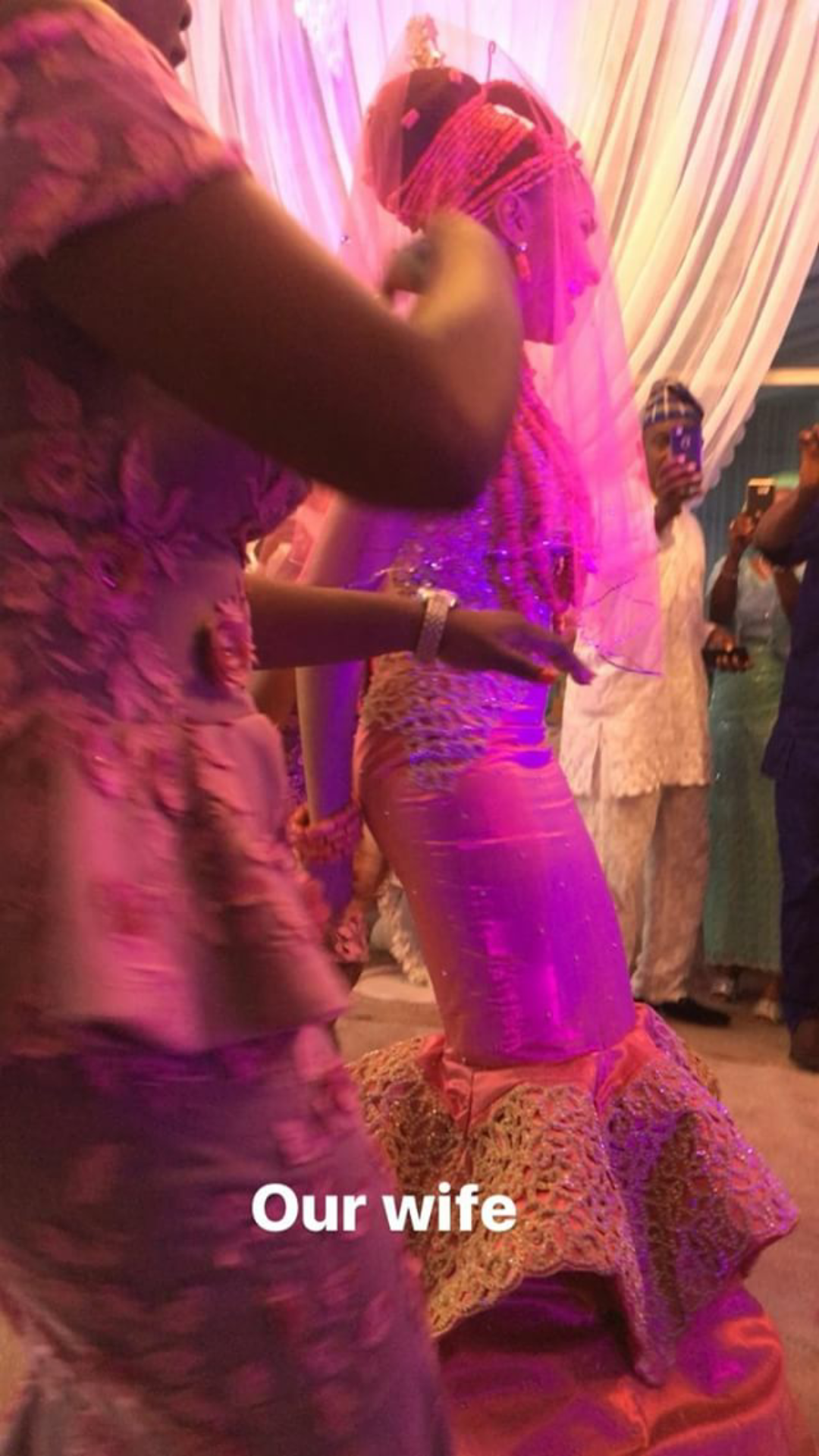 Adesua Etomi and her bridesmaids pictured at her traditional wedding today (photos/video)