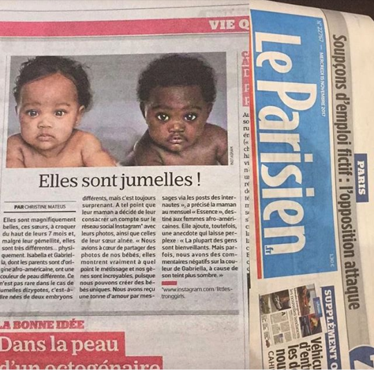 Adorable Brazillian twins make news headlines because of how different their skin tone is