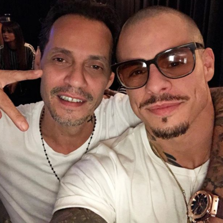 Lol. J.Lo?s former husband of 10 years, Marc Anthony and her ex-boyfriend Casper Smart hang out together
