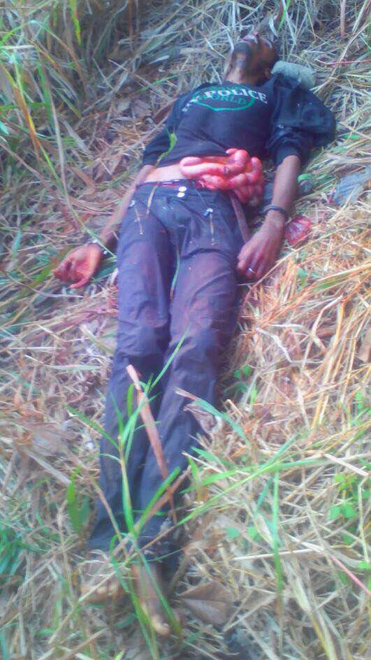 Photos: Man arrested in Cross River State for allegedly stabbing Fulani herdsman to death during fight