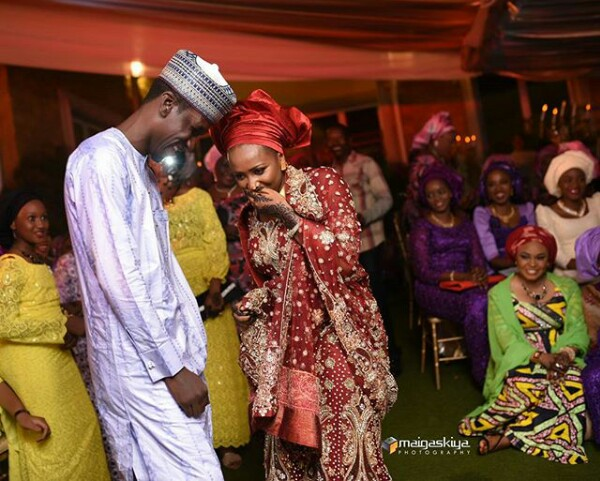 Photos of Bilyamin Muhammed Bello and Maryam Sanda on their wedding day, two years before she allegedly stabbed him to death
