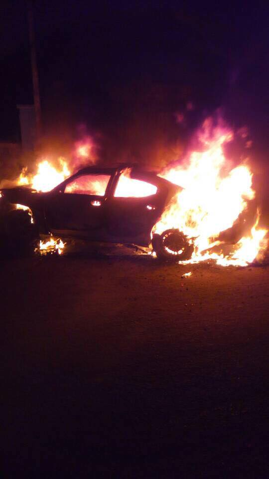 Photos: Mob set fire on car that hit a woman, killed her baby and attempted to flee the scene in Delta