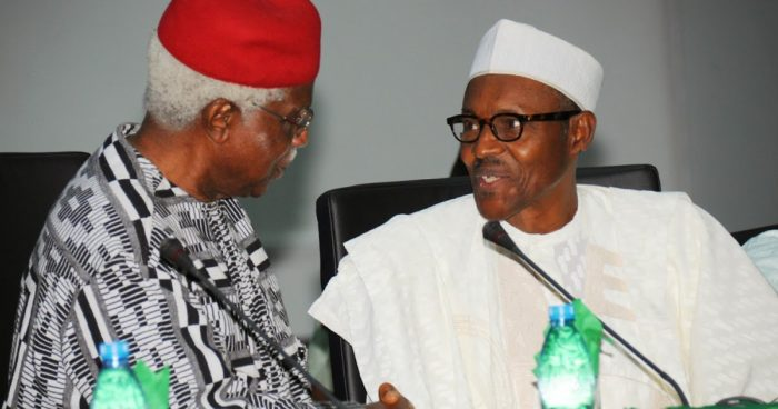 President Buhari mourns ex-VP Alex Ekwueme