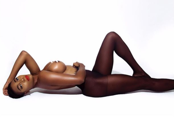 Nigerian supermodel, Faith Morey, strips completely naked in new photo