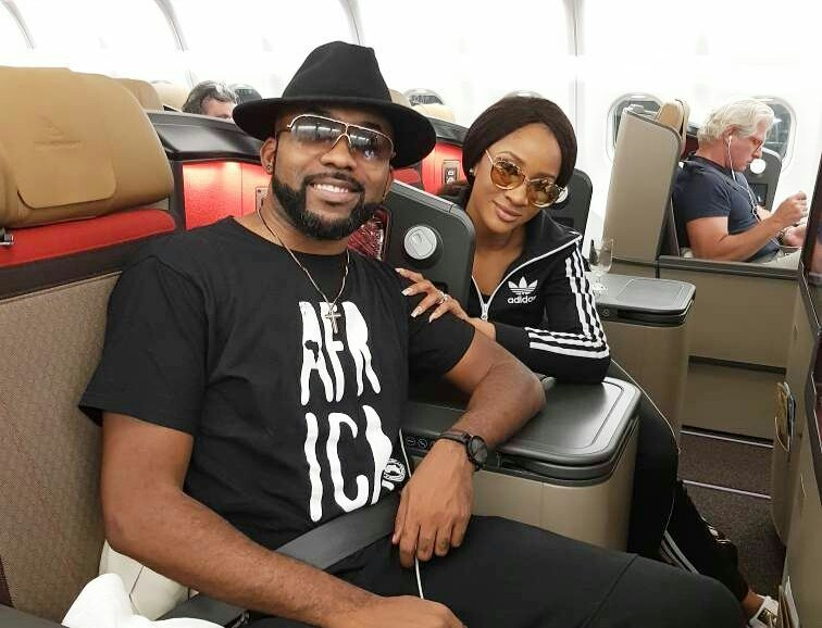 #FinalStep - Adesua Etomi & BankyW fly out to Cape Town, South Africa in preparation for their white wedding