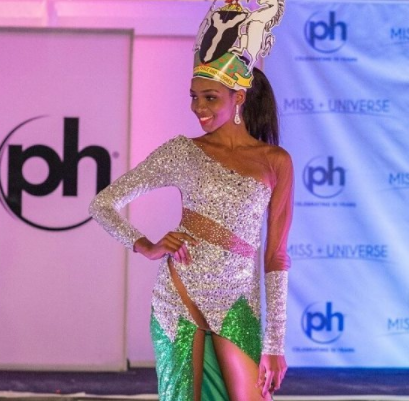 Checkout This Dress Stephanie Agbasi Wore To Represent Nigeria At The Miss Universe 2017.