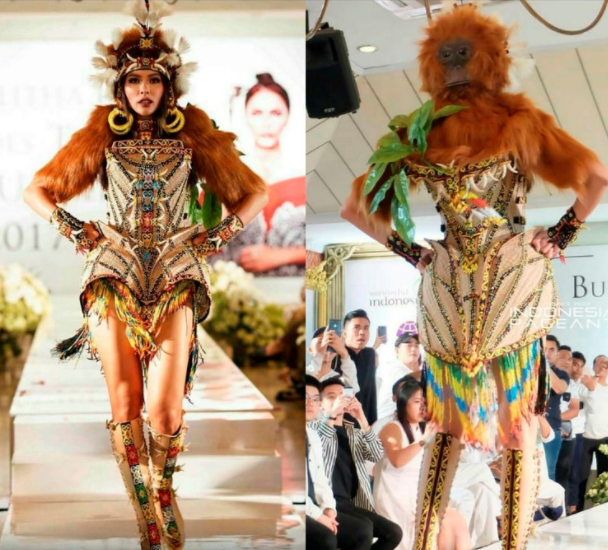 Check out the unusual outfit Miss Indonesia wore at the Miss Universe 2017 preliminaries (photos)