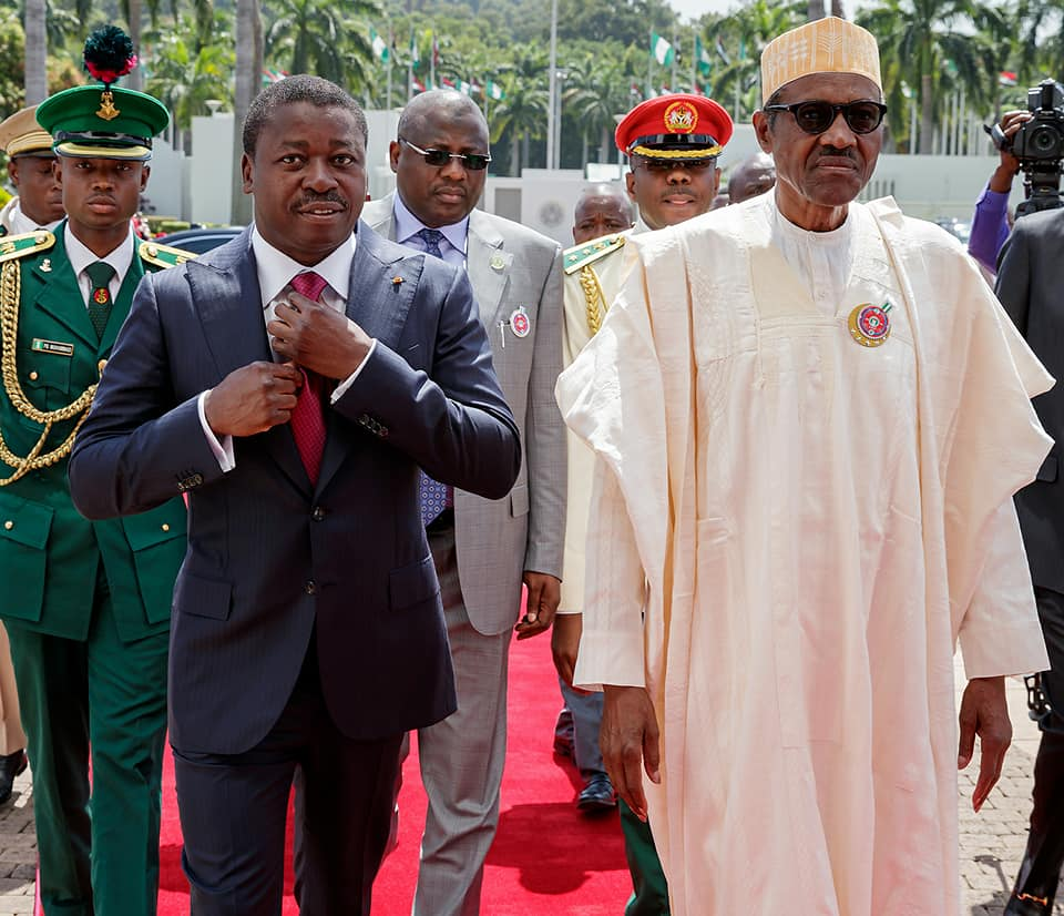 Photos: President Buhari welcomes Faure Gnassingbe, President of Republic of Togo to Nigeria