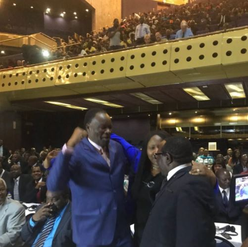 Photo: ZImbabwean lawmakers celebrate Robert Mugabe