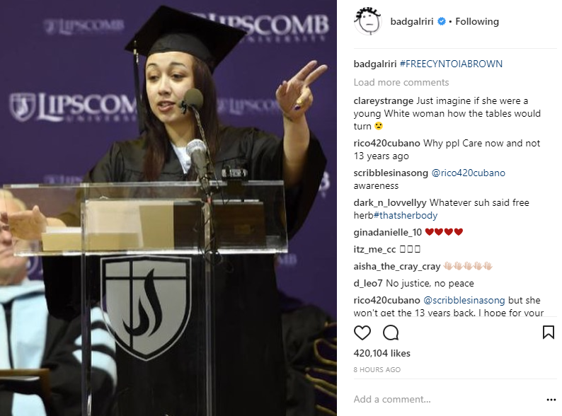 Kim Kardashian, Rihanna and other celebrities join the campaign to free Cyntoia Brown jailed for killing man who used her