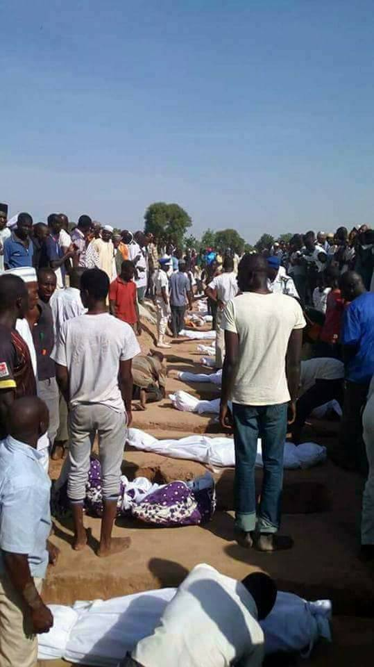 Photos: Little children killed during Fulani herdsmen/Farmers clash in Adamawa state have been buried