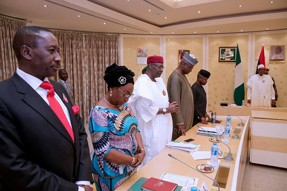 Photos: Federal Executive Council meeting moved to Aisha Buhari